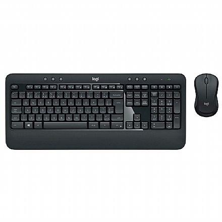 Kit Teclado e Mouse sem Fio Logitech MK540 Advanced - Tecnologia Unifying - ABNT2 - 920-008674