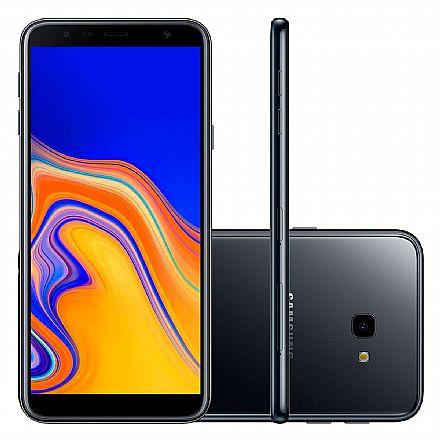 "Smartphone Samsung Galaxy J4+ - Tela 6"" HD+ Infinita, 32GB, Dual Chip 4G, Câmera 13MP - Preto - SM-J415G - Open Box"