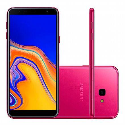 "Smartphone Samsung Galaxy J4+ - Tela 6"" HD+ Infinita, 32GB, Dual Chip 4G, Câmera 13MP - Rosa - SM-J415G"