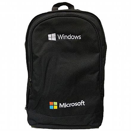 """Mochila Microsoft Basic - para Notebooks de até 15.6"""" - Preto"""