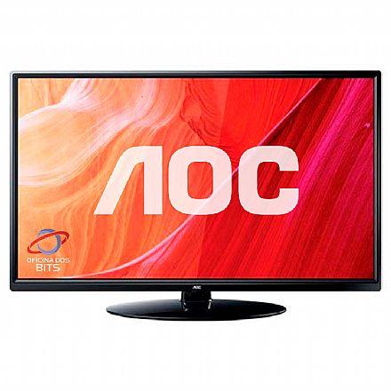 """Monitor TV 24"""" AOC LE24M1475 - HD - Função Multimídia USB - HDMI/VGA - Conversor Digital Integrado"""