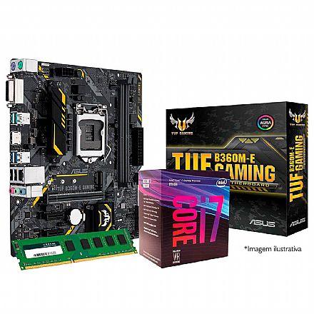 Kit Upgrade Intel® Core™ i7 8700 + Asus TUF B360M-E GAMING + Memória 16GB DDR4