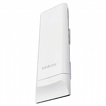 CPE Intelbras WOM 5A - 5 GHz - Antena 16dBi - 1 porta PoE 10/100Mbps - Alcance de até 4km - Throughput TCP efetivo de até 110Mbps