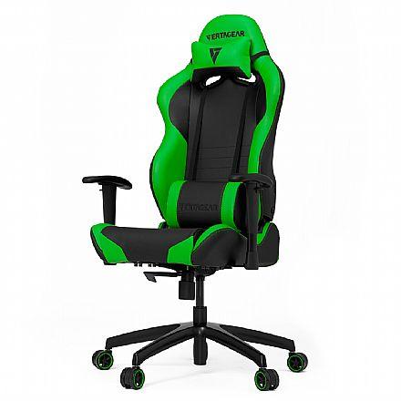 Cadeira Gamer Vertagear Racing Series S-Line VG-SL2000_GR - Encosto Reclinável de 140º - Construção em Aço - Preta e Verde