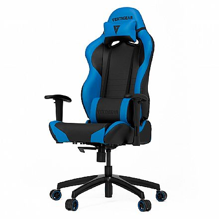 Cadeira Gamer Vertagear Racing Series S-Line VG-SL2000_BL - Encosto Reclinável de 140º - Construção em Aço - Preta e Azul