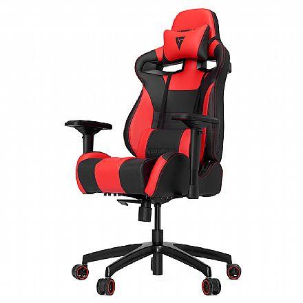 Cadeira Gamer Vertagear Racing Series S-Line VG-SL4000_RD - Encosto Reclinável de 140º - Construção em Aço - Preta e Vermelho