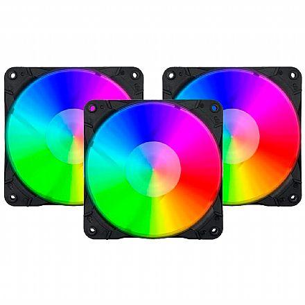 Kit Cooler RGB + Controlador com Controle Remoto Redragon - GC-F007