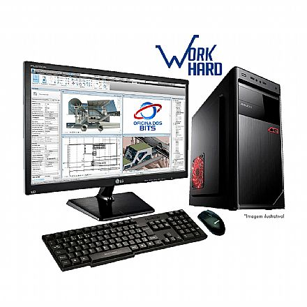 "Computador Bits WorkHard - Intel Core i5, 8GB, HD 1TB, Monitor 19.5"", com Mouse e Teclado, FreeDos - Garantia 1 ano"