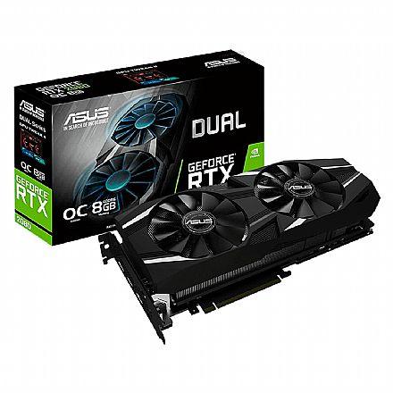GeForce RTX 2080 8GB GDDR6 256bits - Dual - OC Edition - Asus DUAL-RTX2080-O8G