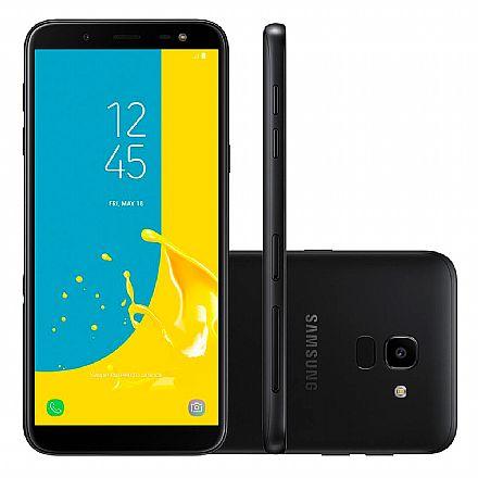 "Smartphone Samsung Galaxy J6 - Tela 5.6"" Super AMOLED, 32GB, Dual Chip 4G, 13MP, TV Digital - Preto - SM-J600GT - Open Box"