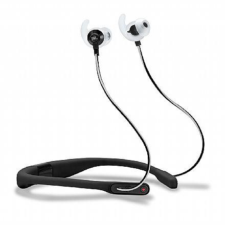 Fone de Ouvido Esportivo Bluetooth Intra-Auricular JBL Reflect Fit - com Microfone - Resistente a Suor - com Monitoramento de Frequência Cardíaca - Preto - JBLREFFITBLK