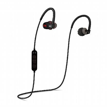 Fone de Ouvido Esportivo Bluetooth Intra-Auricular JBL Under Armour Heart Rate - com Microfone - Resistente a Suor - com Monitoramento de Frequência Cardíaca - Preto - UAJBLHRMB