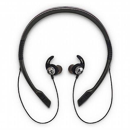 Fone de Ouvido Esportivo Bluetooth Intra-Auricular JBL Under Armour Wireless Flex - com Microfone - Resistente a Suor - Preto - UAJBLNBGRY