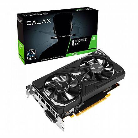 GeForce GTX 1650 4GB GDDR5 128bits - 1-Click OC - Galax 65SQH8DS08EX