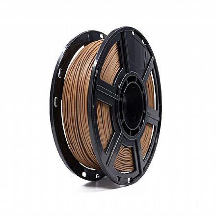 Filamento para Impressora 3D FFF - PLA Madeira Escura - 0,5Kg - 1,75mm - Flashforge