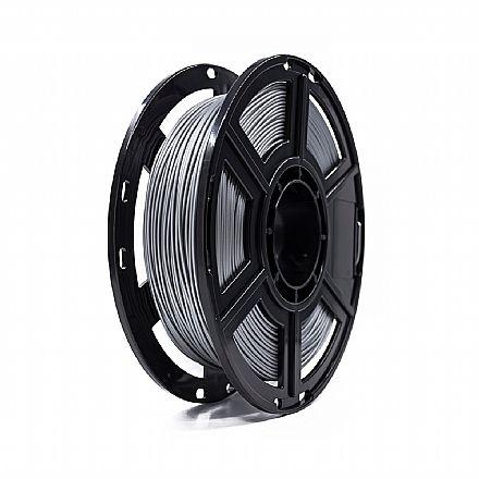 Filamento para Impressora 3D FFF - PLA Metálico - Alumínio - 0,5Kg - 1,75mm - Flashforge