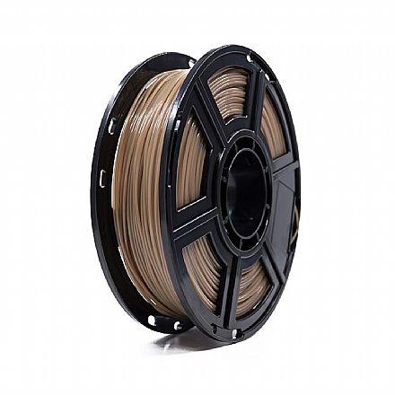 Filamento para Impressora 3D FFF - PLA Termocrômico - Marrom para Verde - 0,5Kg - 1,75mm - Flashforge