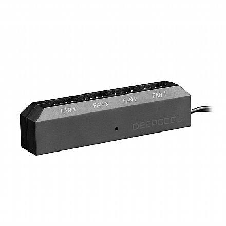 Controlador de Fan DeepCool - com Função PWM - com 4 saídas de 3 e 4 Pinos - DP-F04PWM-HUB