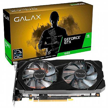GeForce GTX 1660 6GB GDDR5 192bits - 1-Click OC - Galax 60SRH7DSY91C