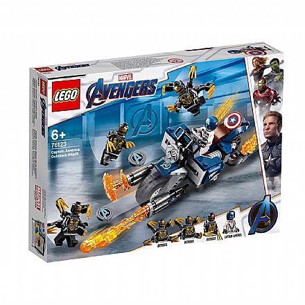 LEGO Marvel Super Heroes - Capitão América: Ataque Outriders - 76123