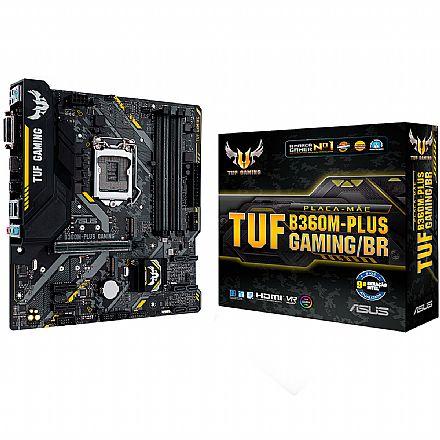 Asus TUF B360M-PLUS GAMING/BR (LGA 1151 - DDR4 2666) - Chipset Intel B360 - USB 3.1 Tipo C - Slot M.2 - Micro ATX