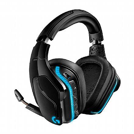 Headset Gamer Sem Fio Logitech G935 - Som Surround 7.1 Canais com Drivers Pro-G™ - LED RGB Lightsync - Conector 3.5mm e USB - Preto - 981-000742
