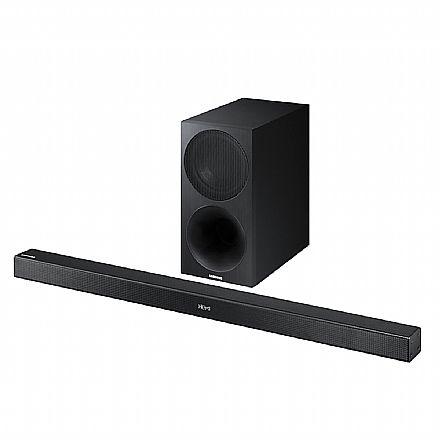 Soundbar 2.1 Samsung M450 - 320W RMS - Conexão HDMI, Óptico, Bluetooth e USB - Subwoofer sem fio - HW-M450/ZD