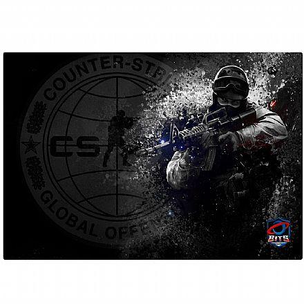 Mousepad Bits Gamer CSGO Contra-Terrorista - Médio: 360 x 250mm
