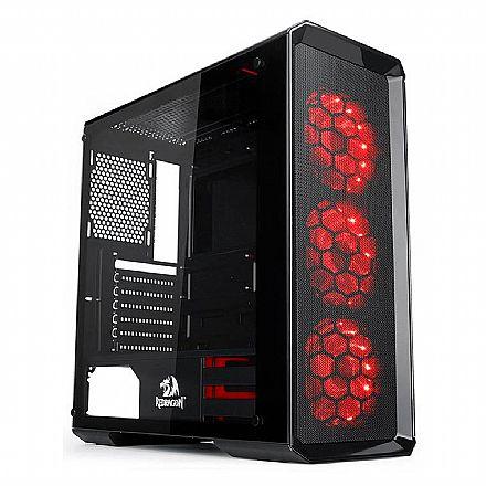Gabinete Gamer Redragon Grimlock - com Coolers RGB - Laterais em Vidro Temperado - GC-602