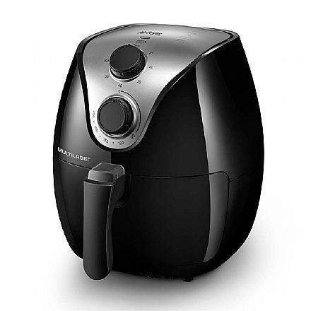 Fritadeira Elétrica sem Óleo Air Fry Gourmet - 127V - 1500W - Capacidade de 4 Litros - Preta - Multilaser CE021