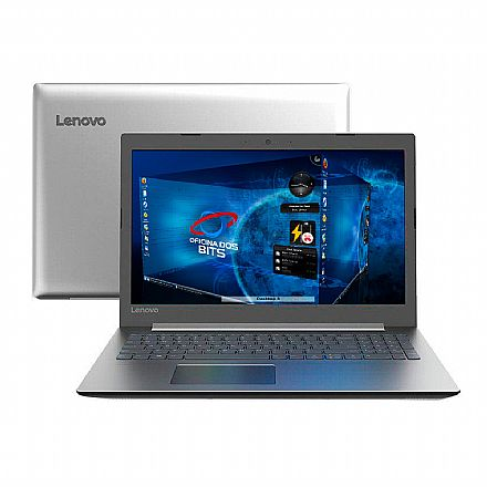 "Notebook Lenovo Ideapad 330 - Tela 15.6"", Intel i3 7020U, 8GB, SSD 120GB, Linux - 81FDS00100"