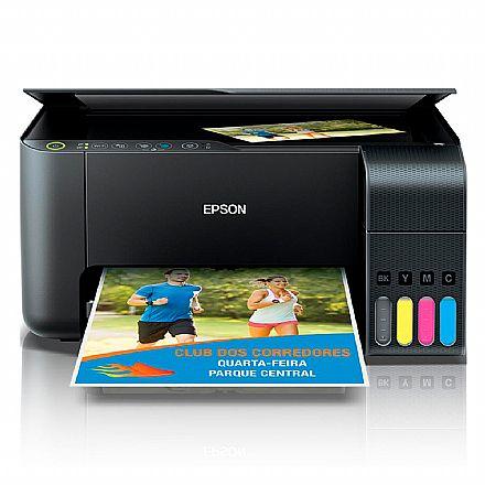 Multifuncional Epson EcoTank L3150 com Tanque de Tinta - USB, Wi-Fi, Wi-Fi Direct® - Impressora, Copiadora e Scanner - C11CG86302