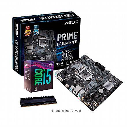 Kit Upgrade Intel® Core™ i5 8400 + Asus Prime H310M-E/BR + Memória 8GB DDR4