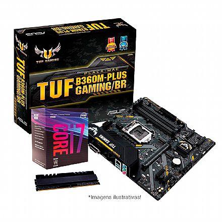 Kit Upgrade Intel® Core™ i7 8700 + Asus TUF B360M-PLUS GAMING/BR + Memória 8GB DDR4