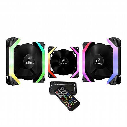 Kit Cooler RGB + Controlador com Controle Remoto Liketec Fantom - Formato Hexagonal