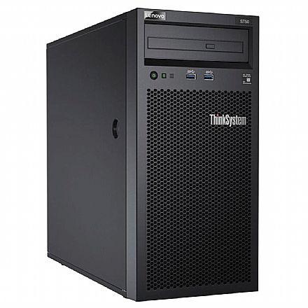 Servidor Lenovo ThinkSystem ST50 - Intel Xeon E-2104G, 8GB, HD 1TB, DVD, USB 3.0, FreeDos - 7Y48A00LBR
