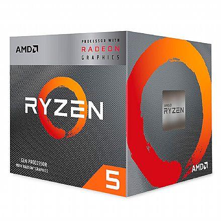 AMD Ryzen 5 3400G Quad Core - 8 Threads - 3.7GHz (Turbo 4.2GHz) - Cache 6MB - AM4 - TDP 65W - Radeon™ VEGA 11 Graphics - YD3400C5FHBOX
