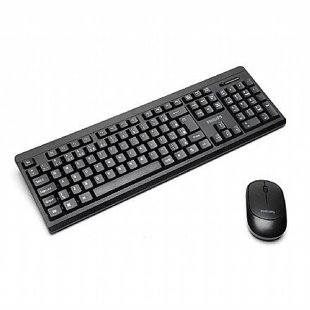 Kit Teclado e Mouse sem fio Philips Convenience - ABNT - SPT6324