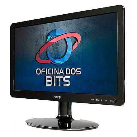 "Monitor 15.6"" PCTop MLP156HDMI - HD - 5ms - Suporte VESA - HDMI/VGA"