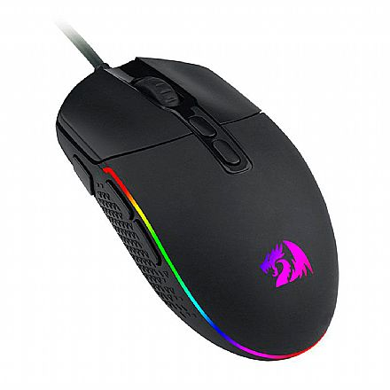 Mouse Gamer Redragon Invader - 10000dpi - 7 Botões - LED RGB - M719-RGB