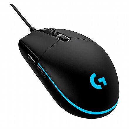 Mouse Gamer Logitech G PRO HERO 16K - 16000dpi - 6 Botões Programáveis - Iluminação RGB Lightsync - 910-005536