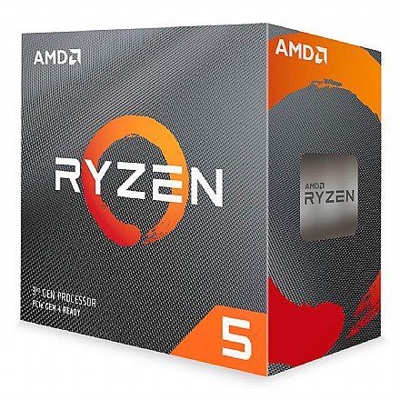 AMD Ryzen 5 3600 Hexa Core - 12 Threads - 3.6GHz (Turbo 4.2GHz) - Cache 32MB - AM4 - TDP 65W - Wraith Stealth Cooler - 100-100000031BOX - sem gráfico integrado
