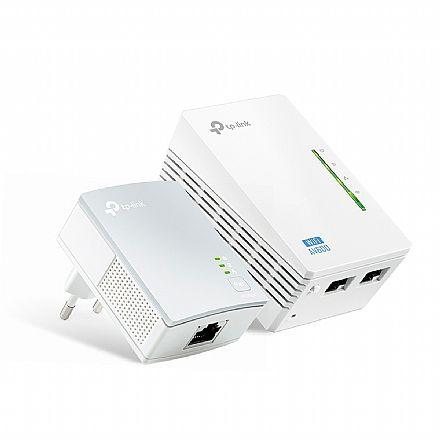 Extensor de Alcance Wi-Fi PowerLine TP-Link TL-WPA4220KIT - 300Mbps - Transforme sua Rede Elétrica em uma Rede de Internet - Versão 4.0