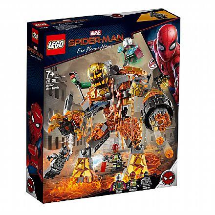 LEGO Marvel Super Heroes - Homem-Aranha: Longe de Casa - A Batalha contra o Monstro de Fogo - 76128