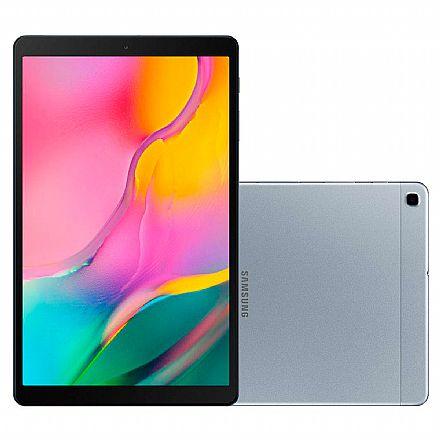 "Tablet Samsung Galaxy Tab A T515 - Tela 10.1"" WUXGA, 4G, 32GB, Octa-Core, Câmera Traseira 8MP + Frontal 5MP - SM-T515 - Prata"