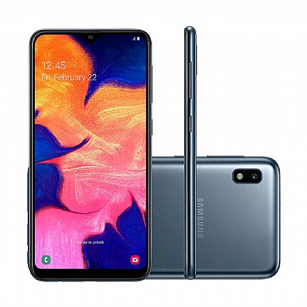 "Smartphone Samsung Galaxy A10 - Tela 6.2"" HD+, 32GB, Dual Chip 4G, Câmera 13MP - Preto - SM-A105M/32DS - Open Box"