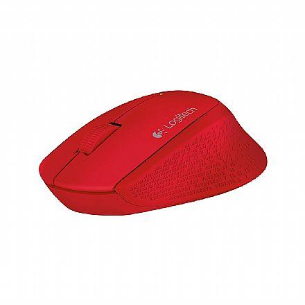 Mouse sem Fio Logitech M280 - USB - 2.4 GHz - 1000dpi - Vermelho - 910-004286