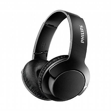 Fone de Ouvido Bluetooth Philips Bass+ SHB3175BK/00 - com Microfone - Preto