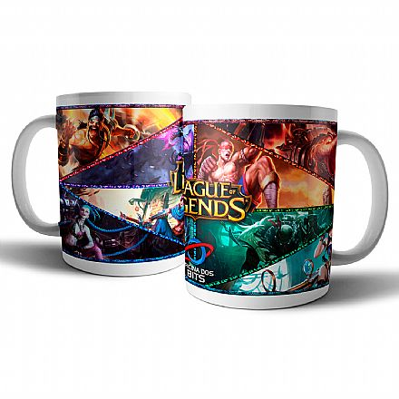 Caneca de porcelana - League of Legends - Oficina dos Bits