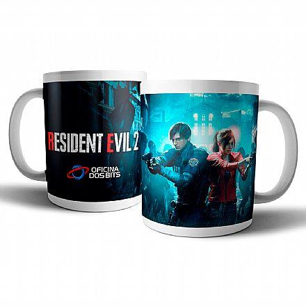 Caneca de porcelana - Resident Evil 2 - Oficina dos Bits